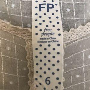 Free People beige/ecru blouse